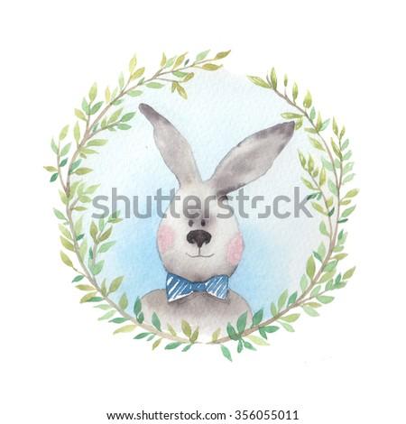 Vintage rabbit illustration