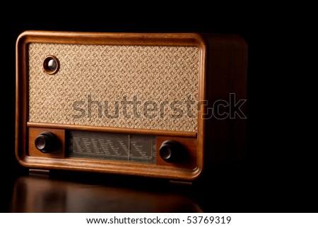 Vintage radio - stock photo