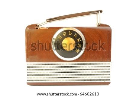 Vintage radio. - stock photo