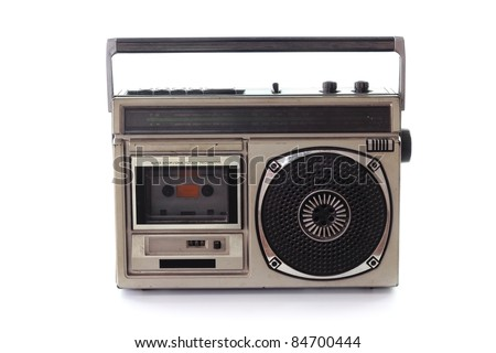 Vintage Radio cassette tape - stock photo