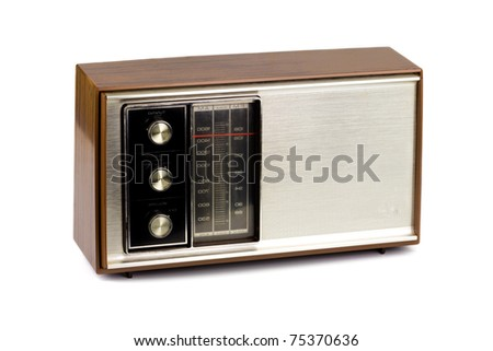 Vintage Radio on a white background.