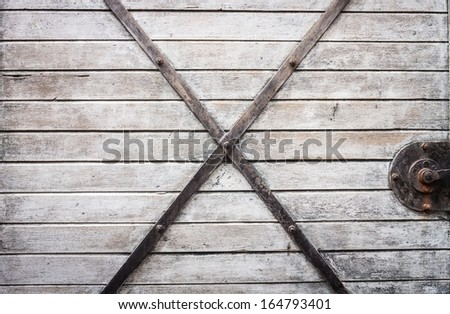 Vintage railroad container doors - stock photo