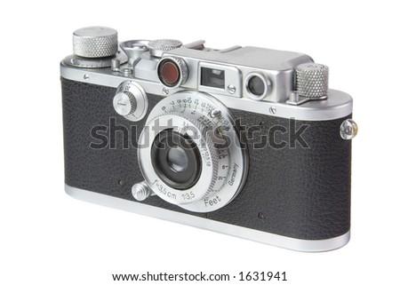 Vintage Rangefinder Camera 1 - stock photo