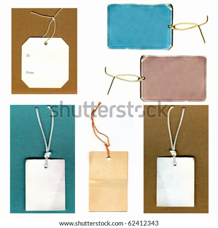 Vintage Real Tags Set - stock photo