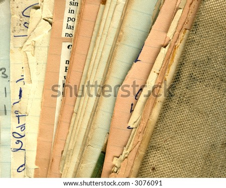 Vintage recipe pages - stock photo