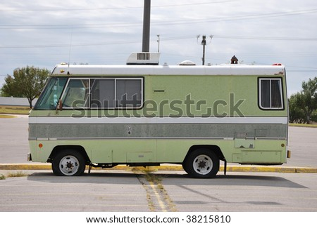 Vintage Recreational Vehicle - stock photo