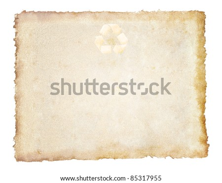 vintage recycled paper background - stock photo