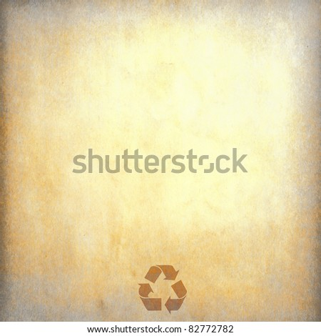 vintage recycled paper for background - stock photo