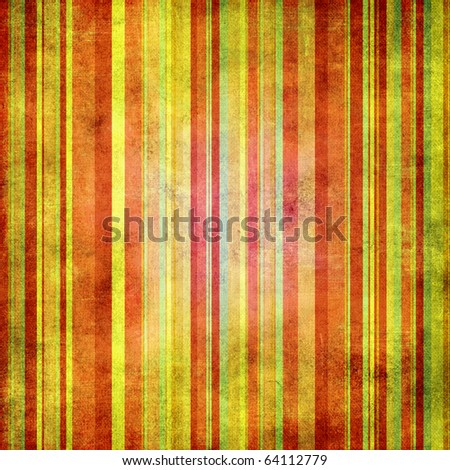 Vintage red and yellow   shabby colored striped background