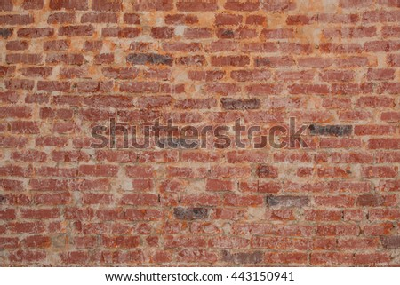 Vintage red brick wall texture for grunge background - stock photo