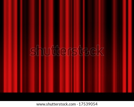 Vintage red theater curtain