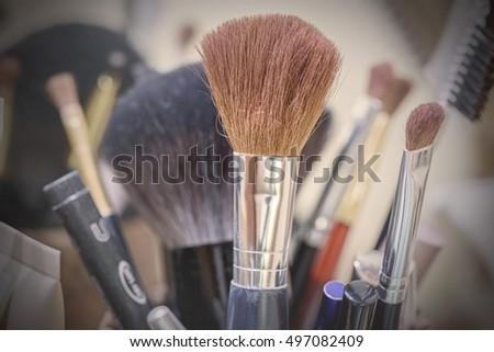 Eye Shadow Makeup Brushes Stock Photo 106764770