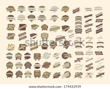 Vintage Retro Icons And Labels - stock photo