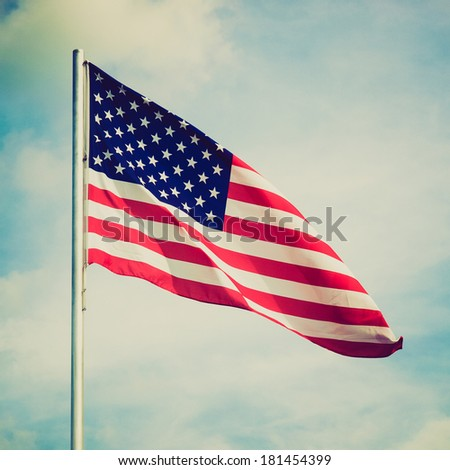 Vintage retro looking Flag of the USA (United States of America)