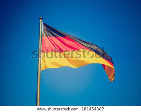 Vintage retro looking The national German flag of Germany (DE)