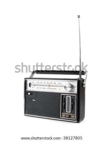 Vintage Retro Radio - stock photo
