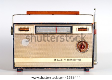 Vintage Retro Radio transistor box - stock photo