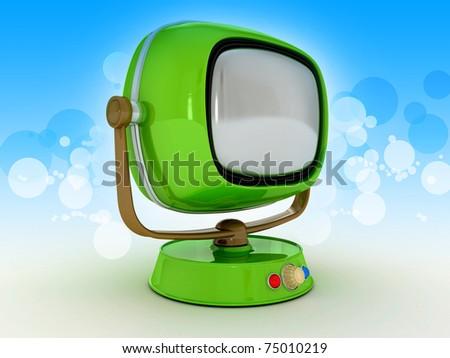 Vintage Retro TV Stylish retro TV. Retro revival - stock photo