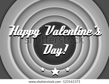 Vintage, retro wishes for valentine's day. - stock photo