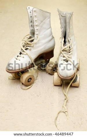 Vintage roller skates - stock photo