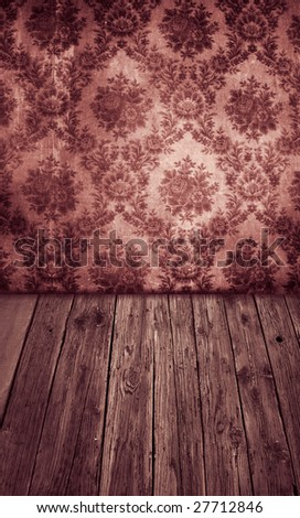 vintage room - stock photo