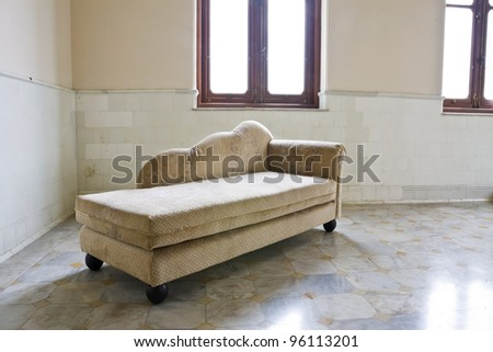 Vintage room with retro sofa