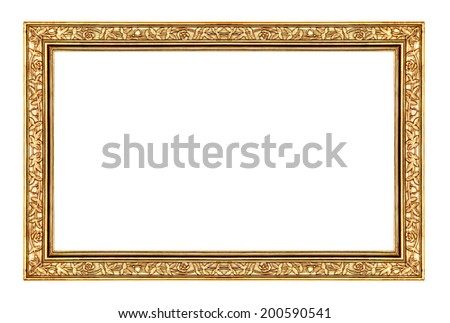 vintage rose gold frame isolated on white background, with clipping path  - stock photo