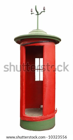 Vintage round telephone booth