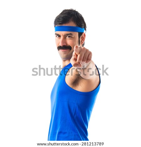 Vintage runner pointing to the front  - stock photo