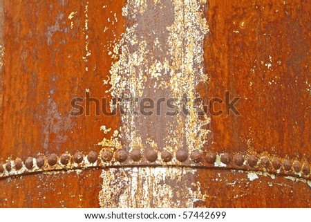 Vintage rusted industrial machinery artifact background - stock photo