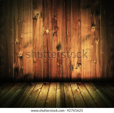 vintage rustic house interior, dark wood texture background - check for more - stock photo