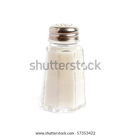 vintage salt shaker on white background