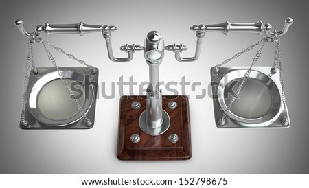 vintage scales. High resolution 3D image  - stock photo