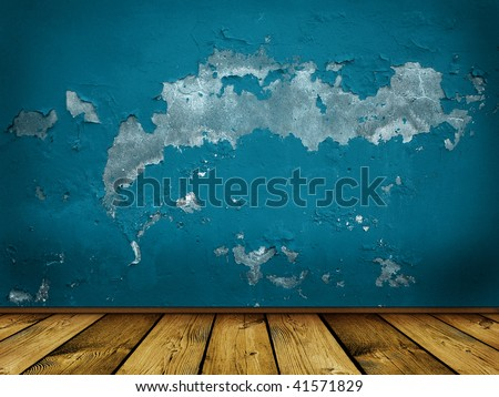 vintage scary blue background - stock photo