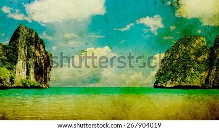 Vintage sea - stock photo