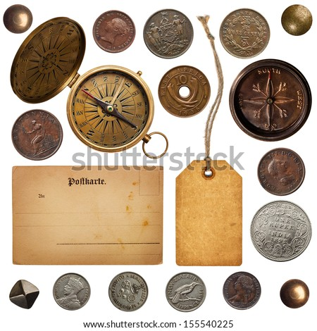 Vintage sea collection - stock photo