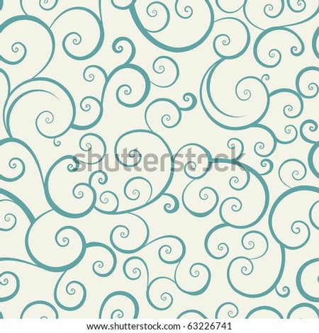 vintage seamless pattern with spiral elements - stock photo