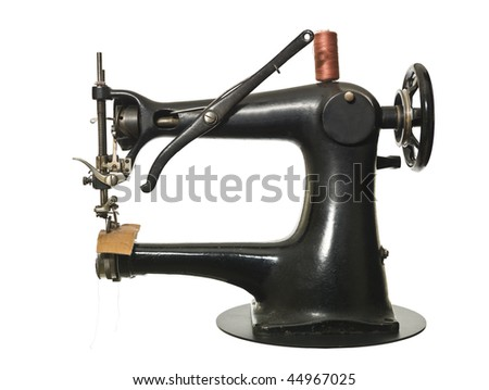 Vintage Sewing-machine isolated on white background