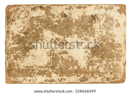 Vintage shabby background. Old paper texture for design. Isolated.