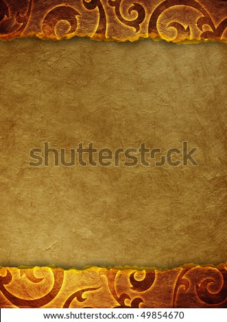 vintage shabby background with classy patterns (cracked paper background) - stock photo