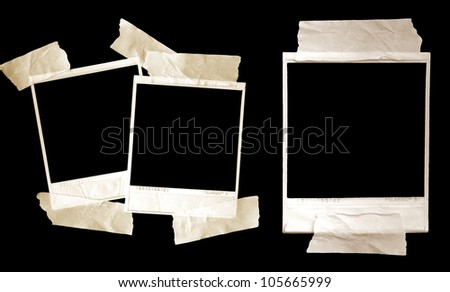 Vintage shabby grunge Polaroid frame frames - stock photo