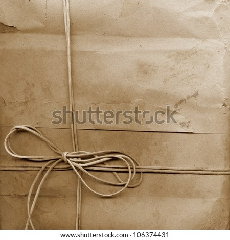 Vintage shabby grunge Ribbon Paper  Textur - stock photo