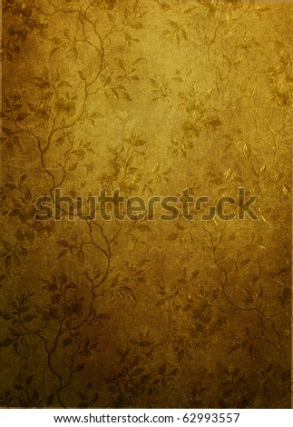 Vintage shabby wallpaper - stock photo