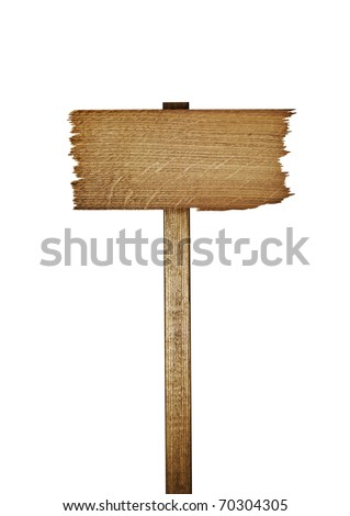 vintage signboard isolated on a white background - stock photo