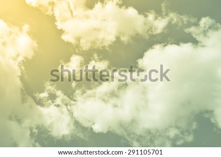 Vintage sky background with retro filter effect - stock photo