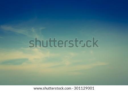 Vintage Sky (Vintage effect) - stock photo