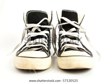 vintage sneakers - stock photo