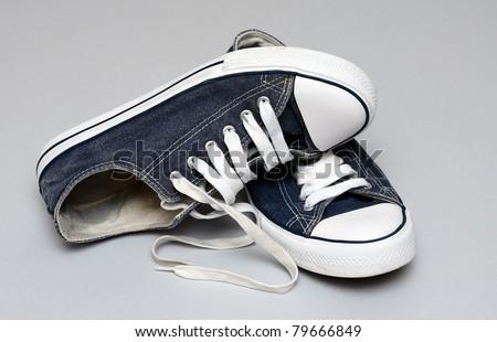 vintage sneakers - stock photo