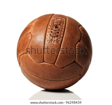 vintage soccer ball on white background