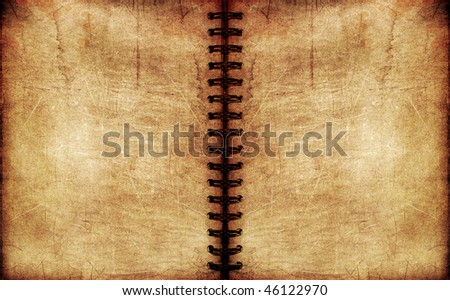 vintage spiral notebook - stock photo